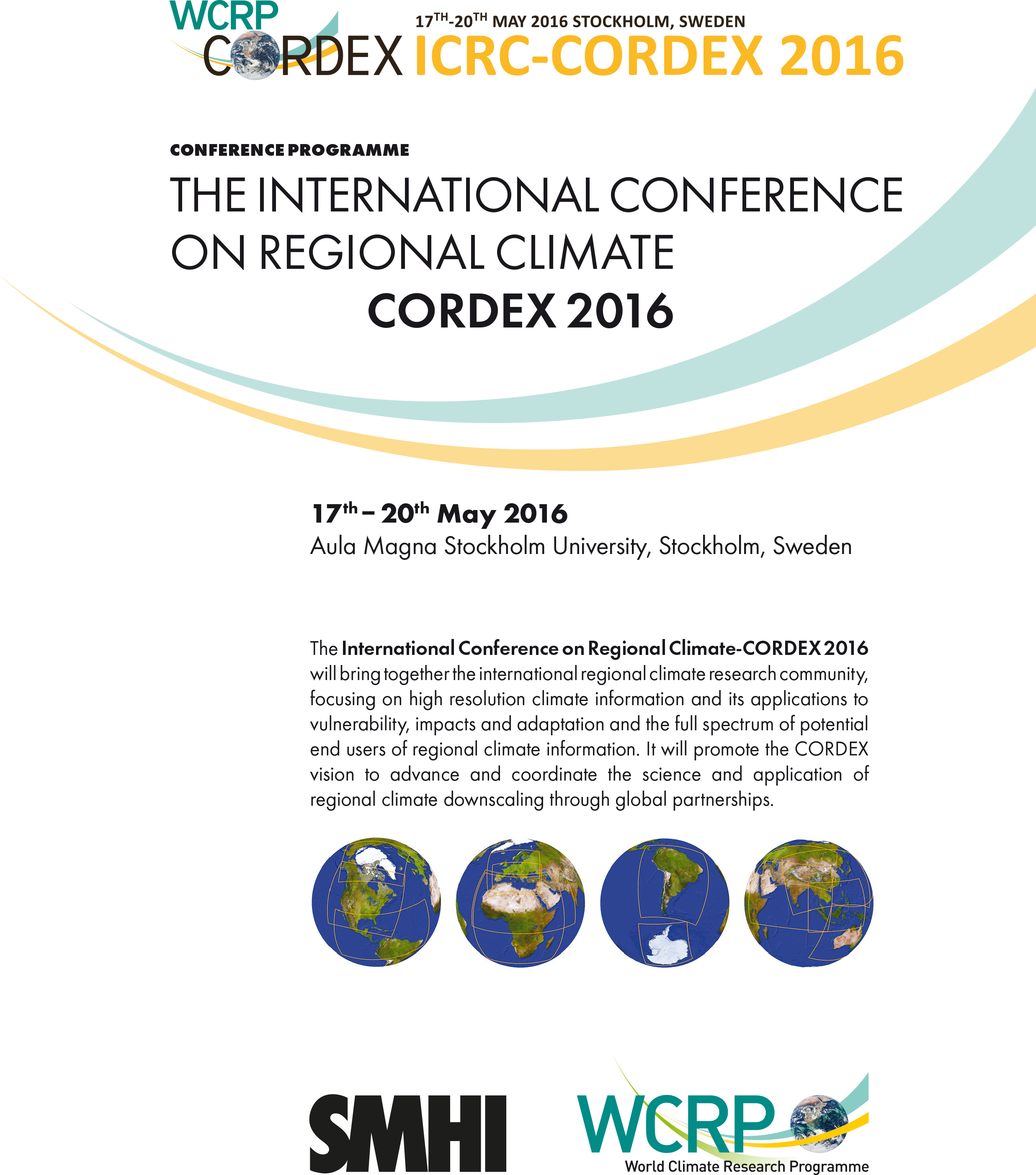 Conference Programme ICRC CORDEX 2016 cover